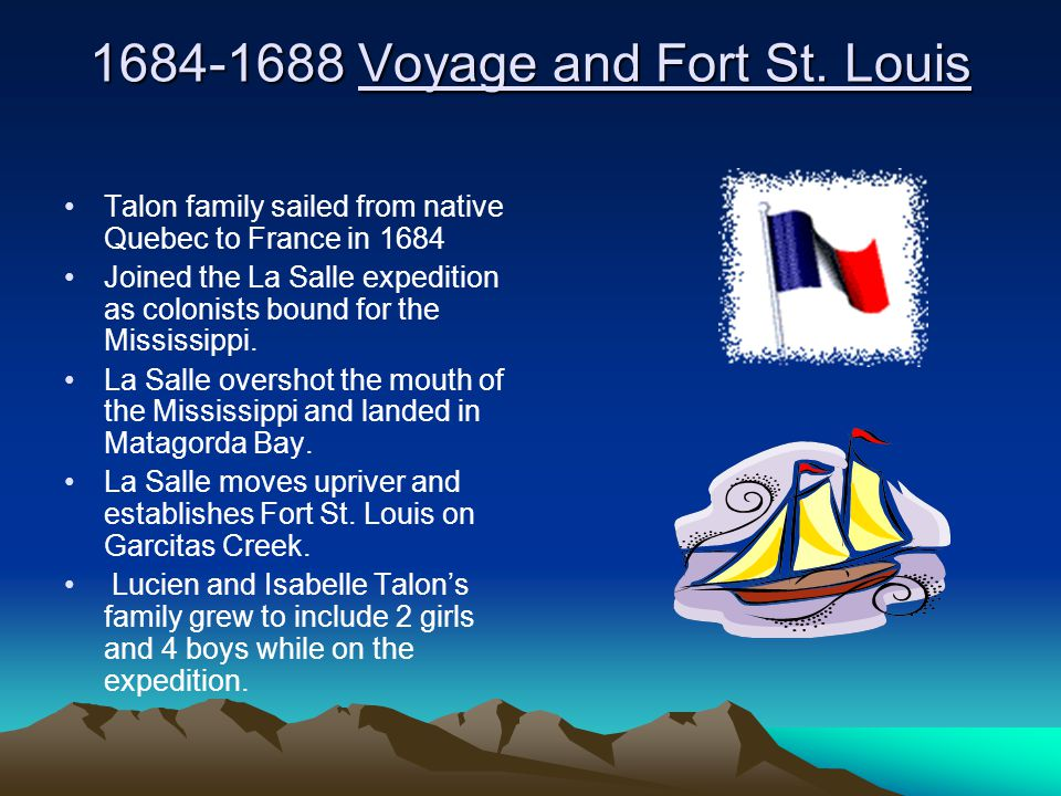 1684-1688 Voyage and Fort St.