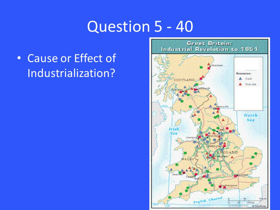 Question 5 - 40 Cause or Effect of Industrialization?