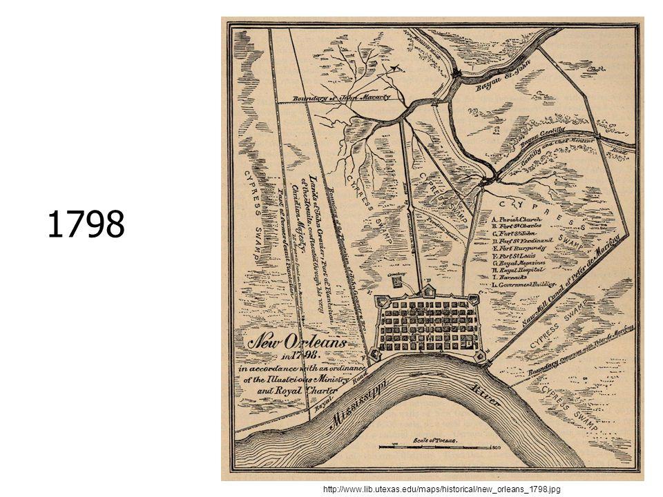 1798 http://www.lib.utexas.edu/maps/historical/new_orleans_1798.jpg