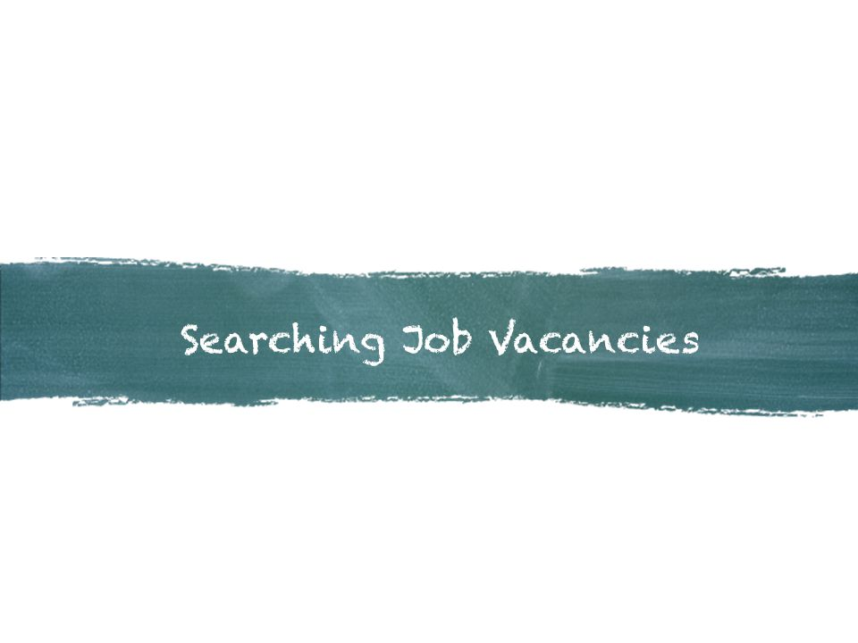Searching Job Vacancies