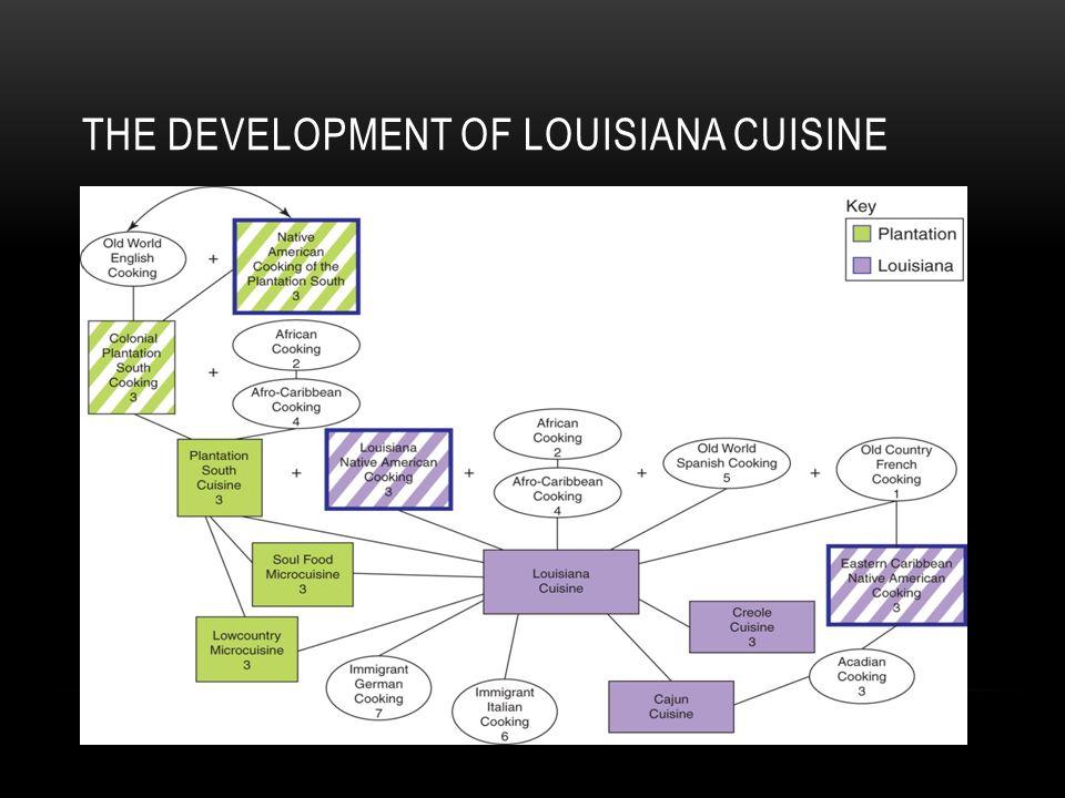 THE DEVELOPMENT OF LOUISIANA CUISINE