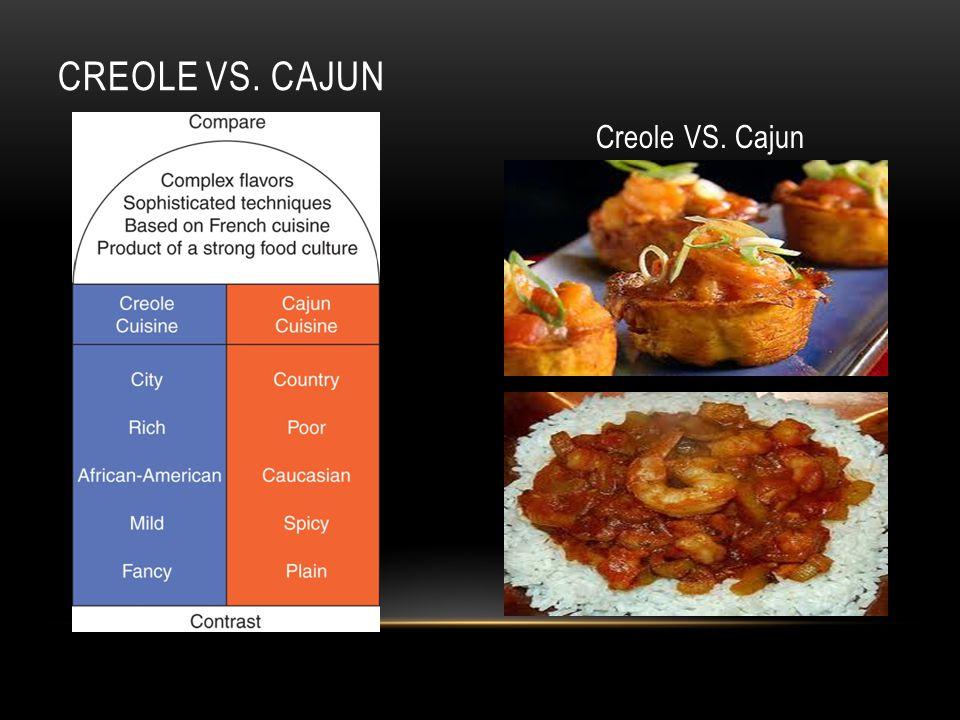 CREOLE VS. CAJUN Creole VS. Cajun