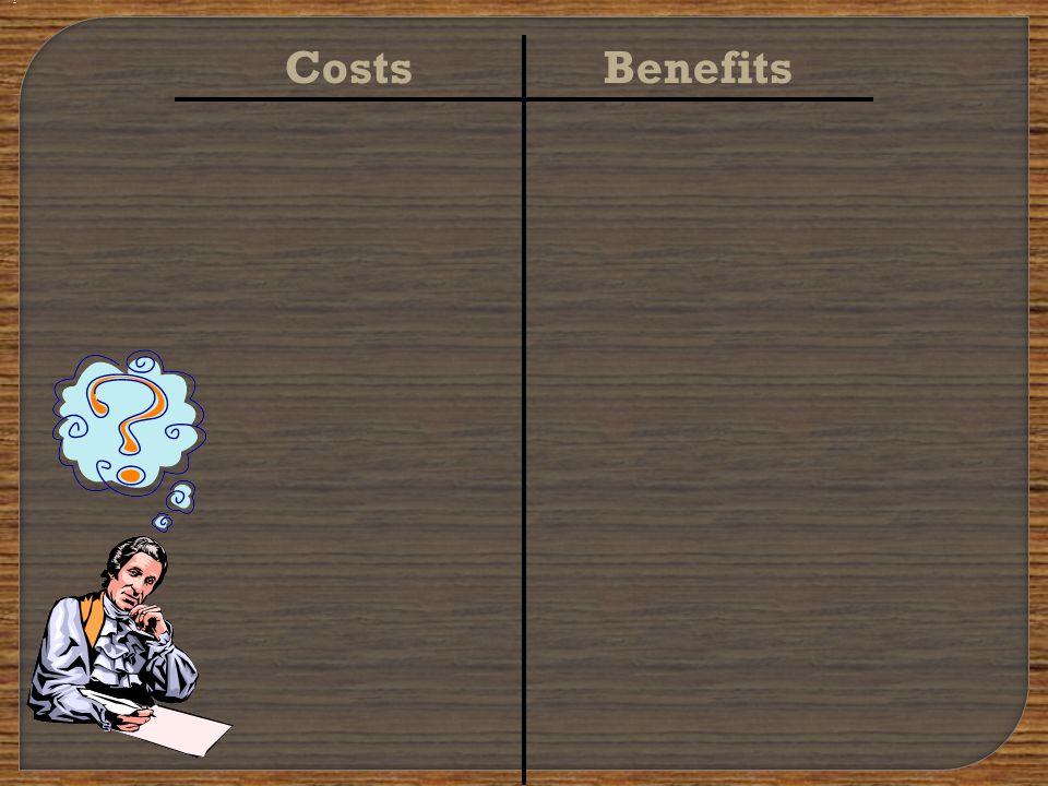 CostsBenefits ?