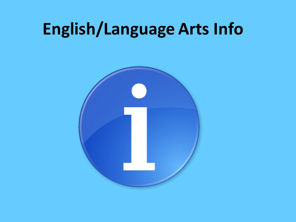 English/Language Arts Info