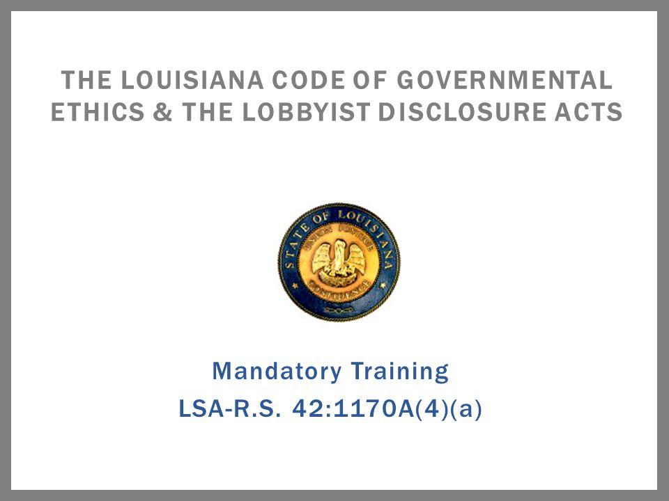 LSA – R.S.42:1101 et seq.