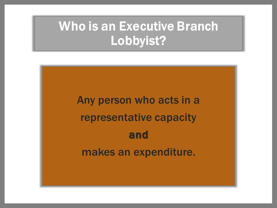 THE RESPONSIBILITIES OF A REGISTERED LOBBYIST A lobbyist must register with the Board as soon as possible after employment as a lobbyist; or As soon as possible after the first action requiring registration as a lobbyist, but no later than 5 days.