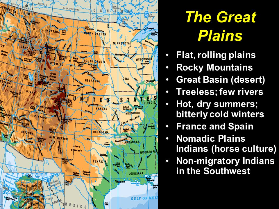 The Pacific Coast Mild weather; rainy in the Northwest, dry in the Southwest Sierra Mountains, Cascades, Coast Ranges, Central Valley Many natural harbors Spain, Russia, Britain, the United States in competition Many Indian groups of various cultures