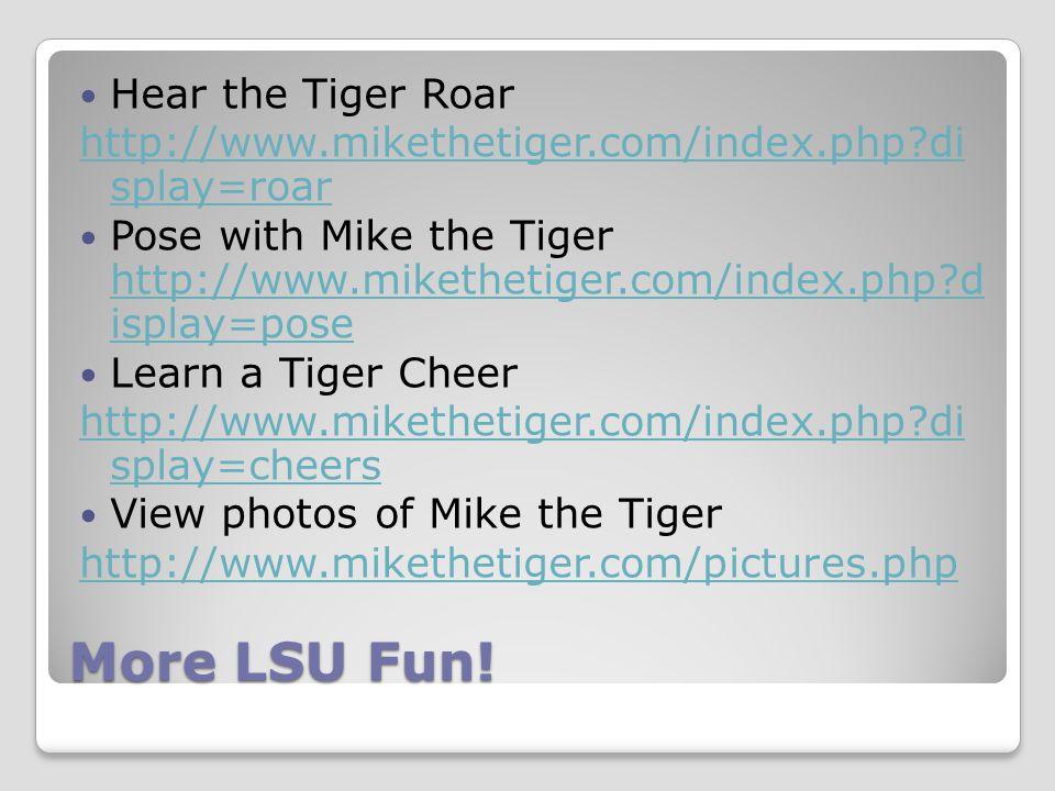 More LSU Fun.