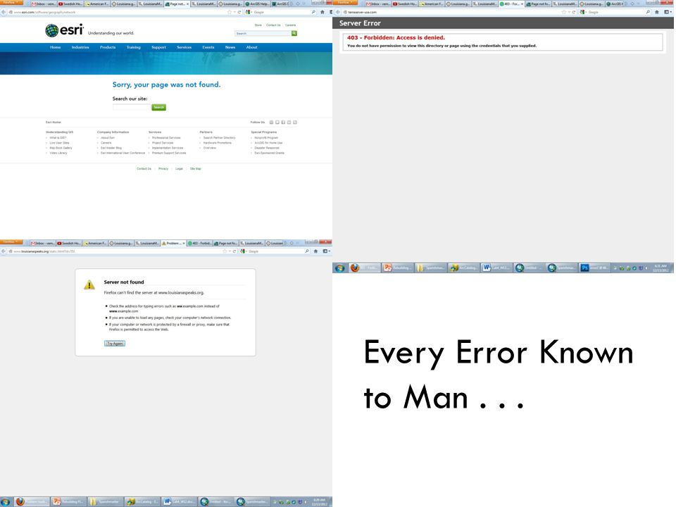 Every Error Known to Man...