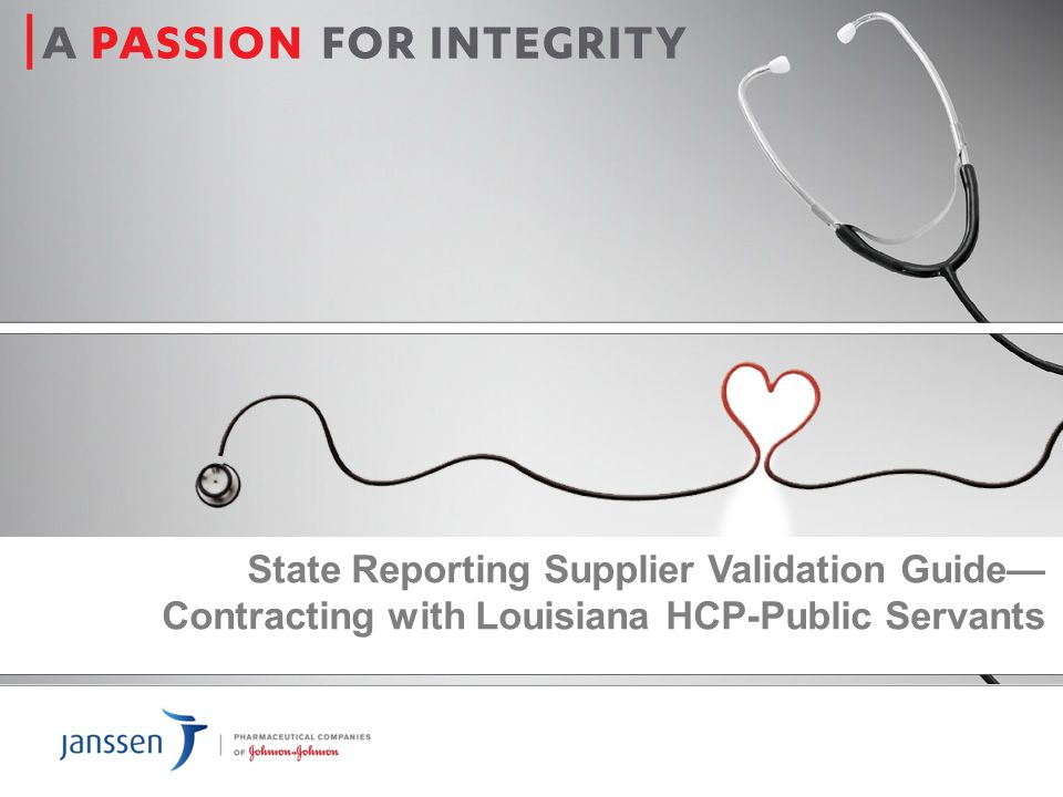 State Reporting Supplier Validation Guide— Contracting with Louisiana HCP-Public Servants