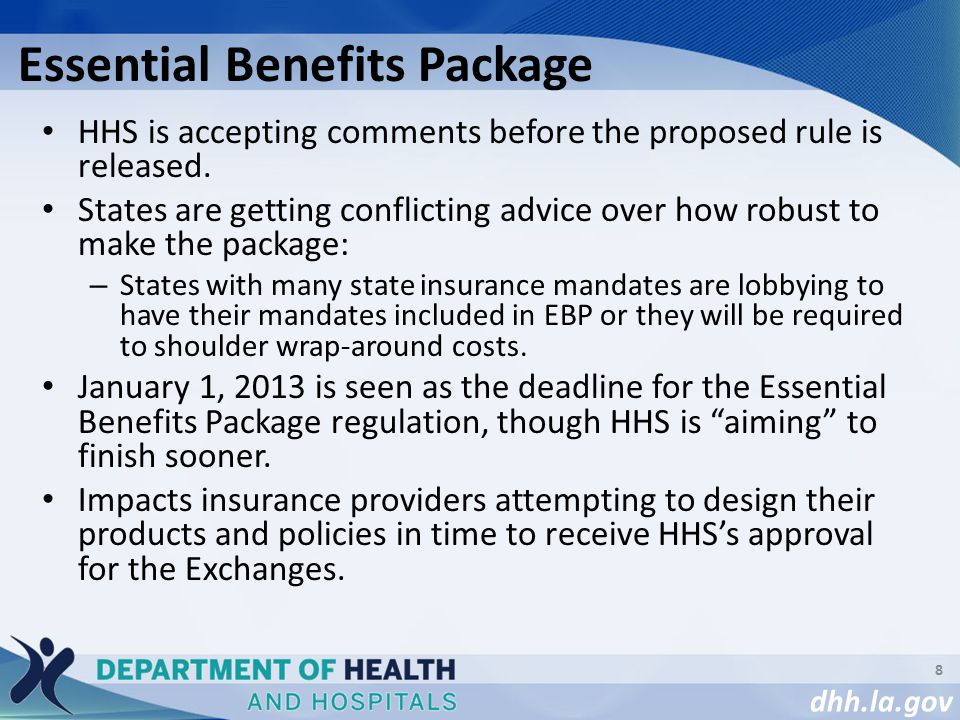 dhh.la.gov HHS is accepting comments before the proposed rule is released.