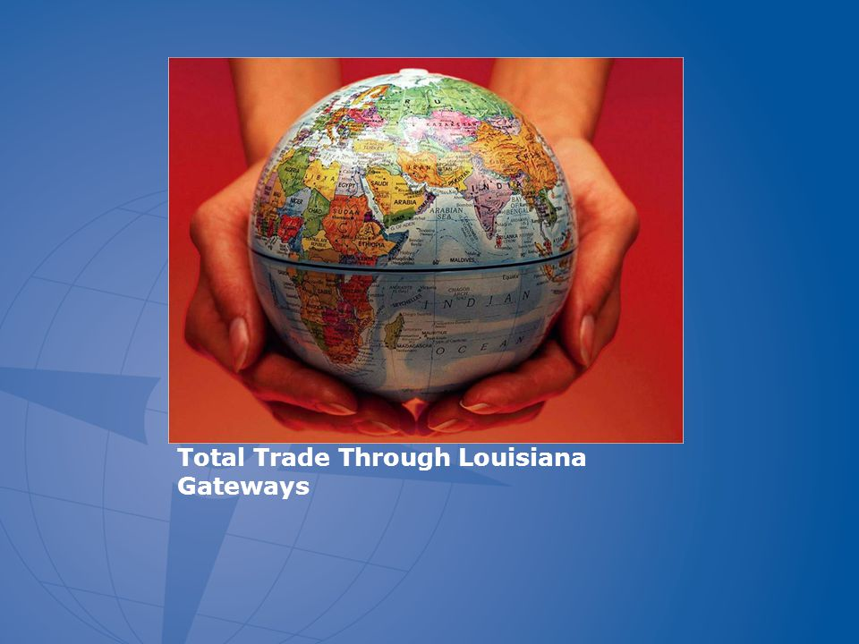 Louisiana Gateway Exports, Top Five Destinations, 2003-2010 (Air Shipments) %=share in 2010