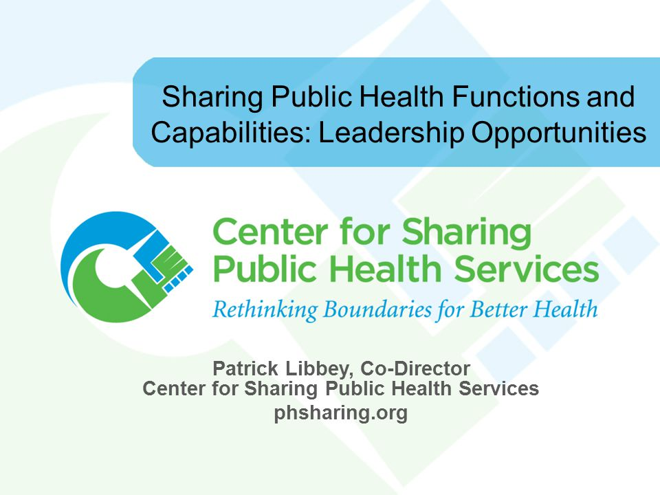 Definitions  Cross-jurisdictional sharing is the deliberate exercise of public authority to enable collaboration across jurisdictional boundaries to deliver essential public health services.