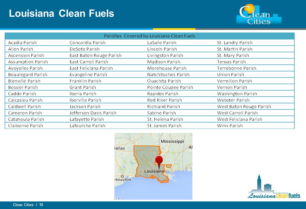 Clean Cities / 10 Louisiana Clean Fuels