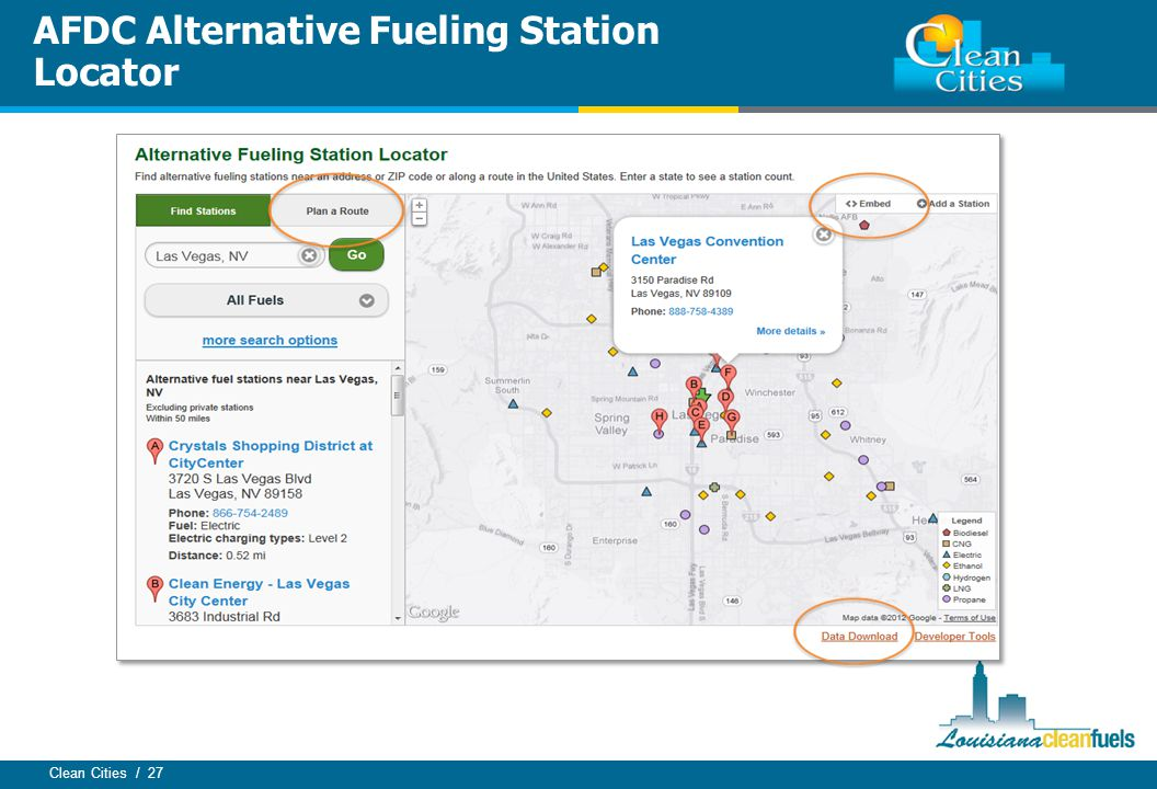 Clean Cities / 27 AFDC Alternative Fueling Station Locator