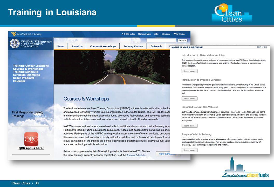 Clean Cities / 38 Training in Louisiana