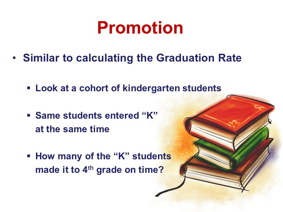 Goal: Kindergarteners arrive in 4 th on-time Measure: Student promotion Ultimate Goal 90% arrive on-time Immediate Goal 75% arrive on-time by 2014