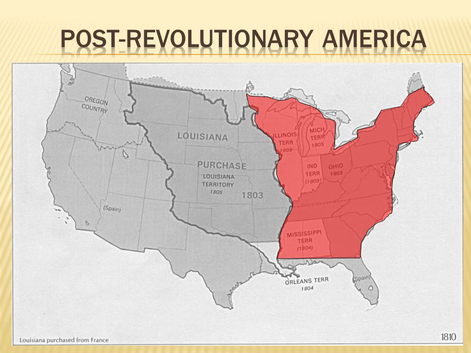  New territories added to the United States after 1801  Louisiana Purchase  Jefferson bought land from France (the Louisiana Purchase), which doubled the size of the United States.