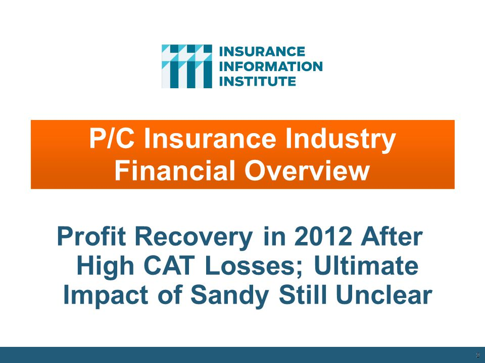 12/01/09 - 9pmeSlide – P6466 – The Financial Crisis and the Future of the P/C 32 Business Bankruptcy Filings, 1980-2012:Q3 Sources: American Bankruptcy Institute at http://www.abiworld.org/AM/AMTemplate.cfm?Section=Home&TEMPLATE=/CM/ContentDisplay.cfm&CONTENTID=61633; Insurance Information Institute http://www.abiworld.org/AM/AMTemplate.cfm?Section=Home&TEMPLATE=/CM/ContentDisplay.cfm&CONTENTID=61633 Significant Exposure Implications for All Commercial Lines as Business Bankruptcies Begin to Decline 2011 bankruptcies totaled 47,806, down 15.1% from 56,282 in 2010—the second consecutive year of decline.