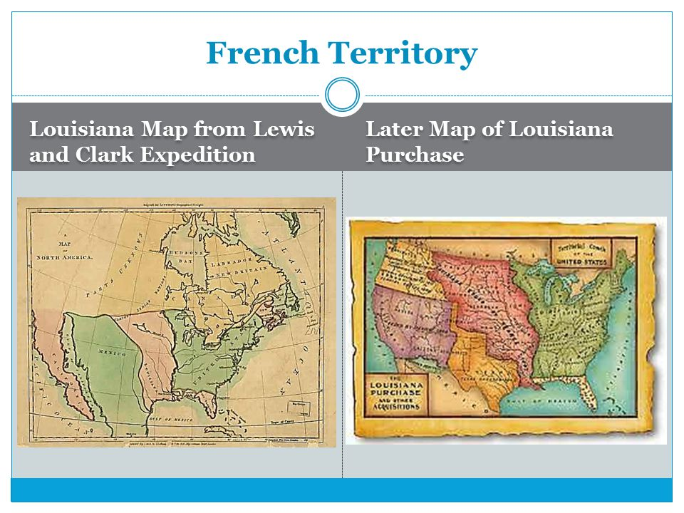 Louisiana Map from Lewis and Clark Expedition Later Map of Louisiana Purchase French Territory
