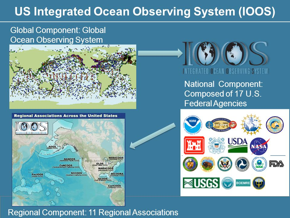 Education Global Component: Global Ocean Observing System Regional Component: 11 Regional Associations National Component: Composed of 17 U.S.