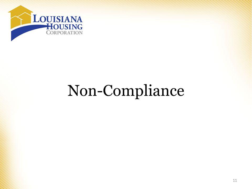 Non-Compliance 11
