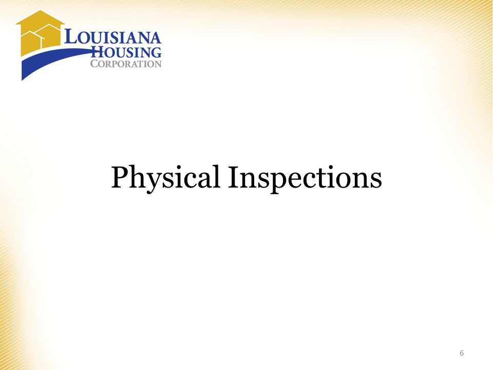 Physical Inspections 6