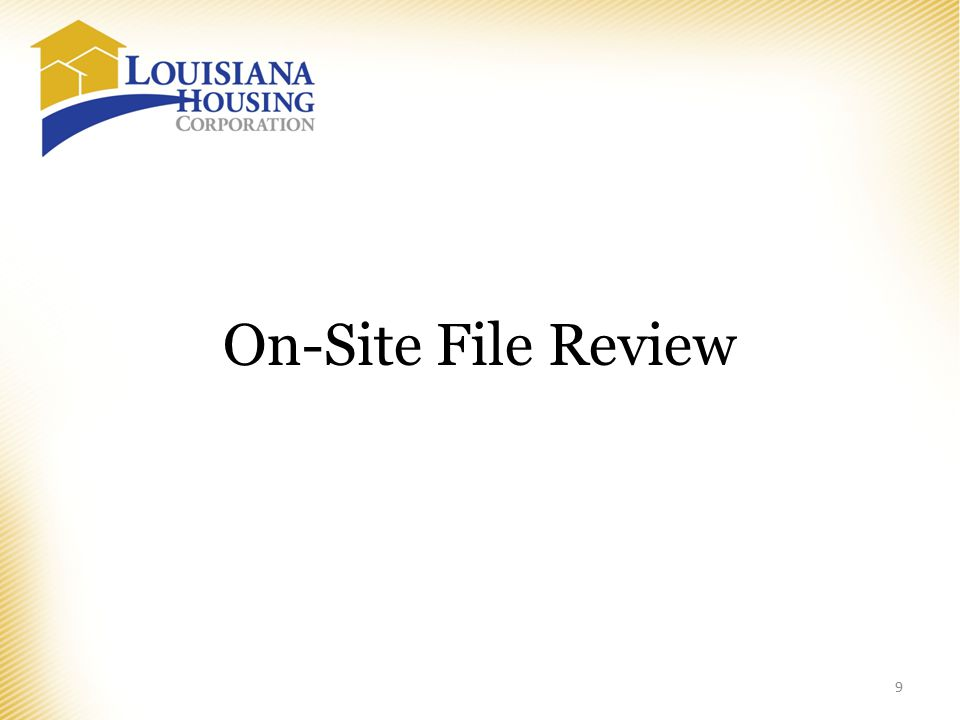 On-Site File Review 9