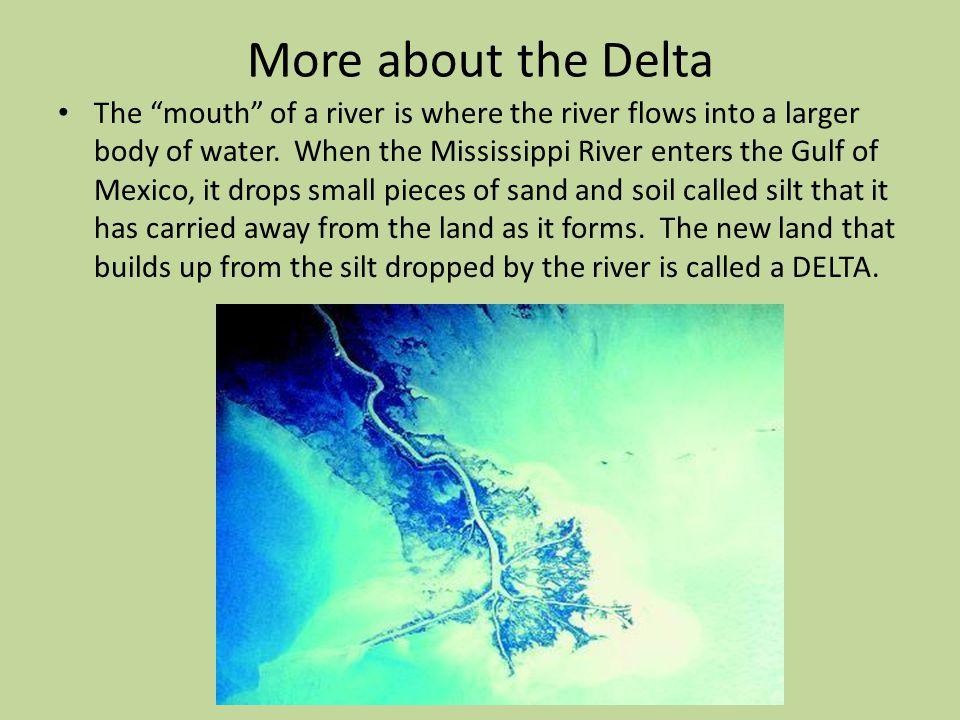 Delta The Louisiana Delta comes from the Greek letter Delta.