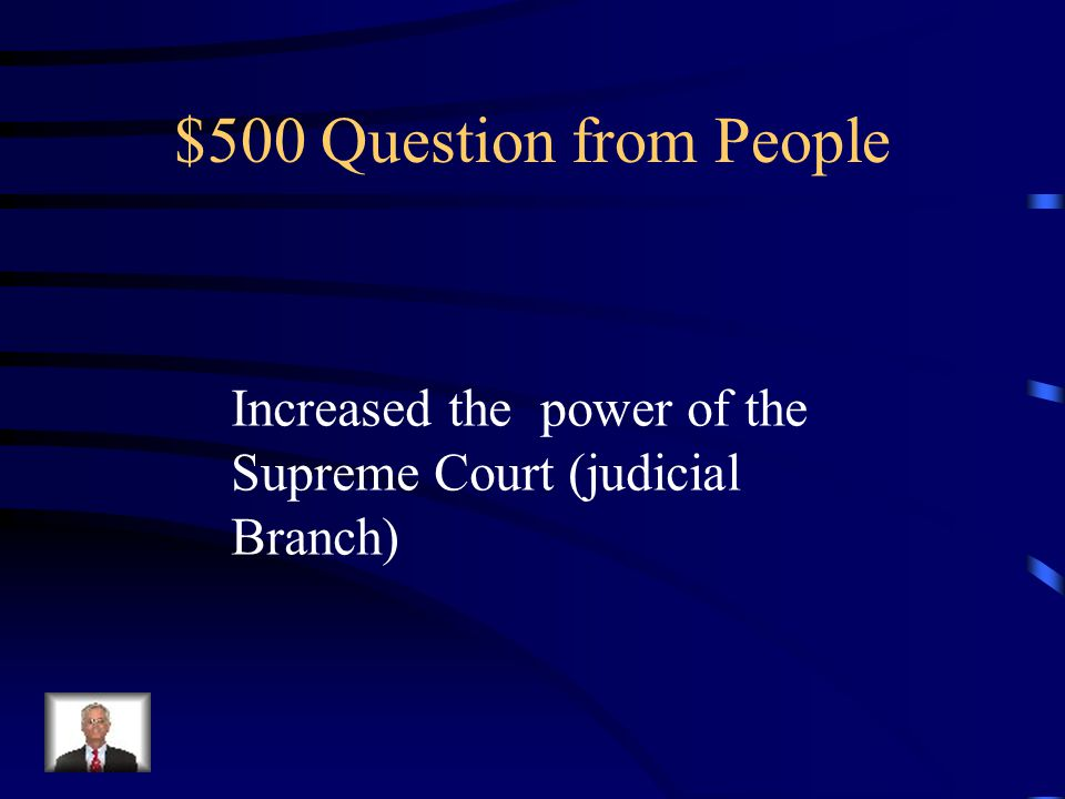 $400 Answer from People Andrew Jackson