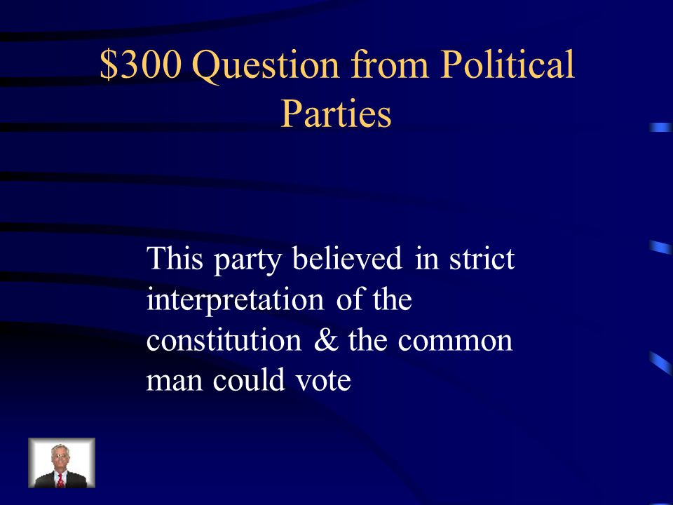 $200 Answer from Political Parties Alexander Hamilton