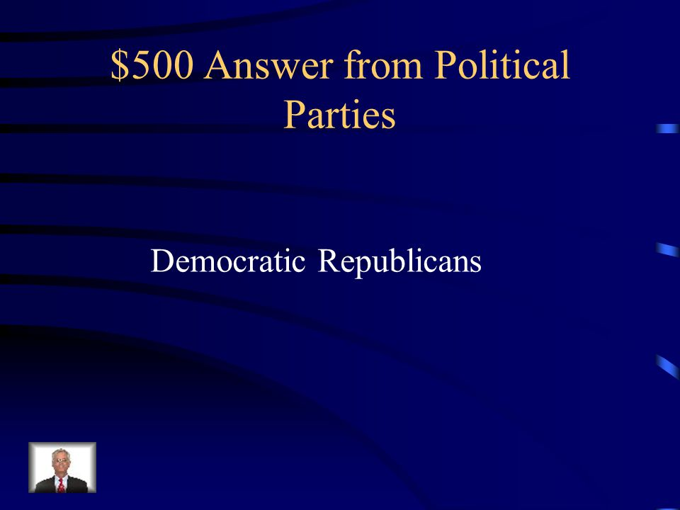 $500 Question from Political Parties Supported individual state rights