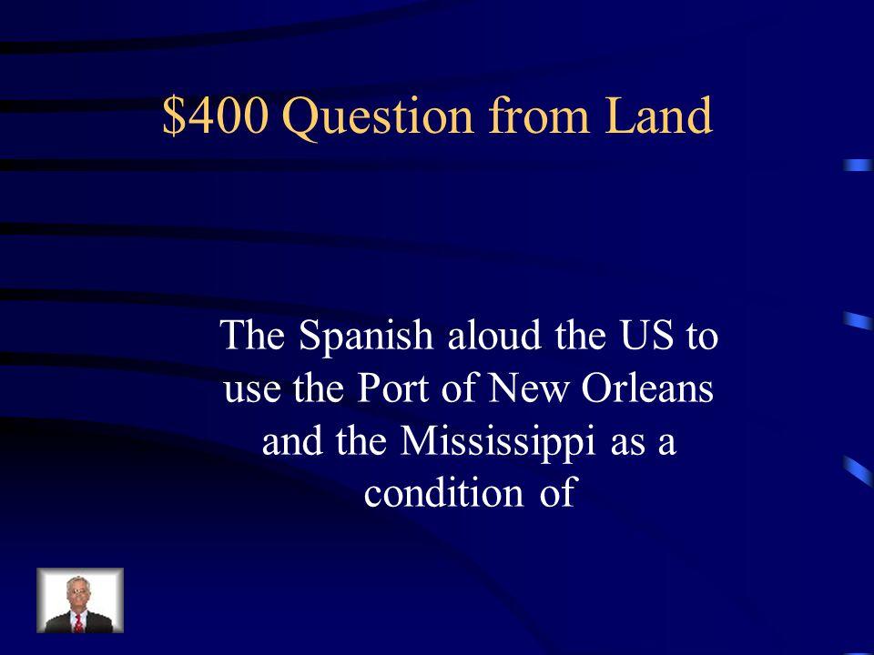 $300 Answer from Land Washington, DC