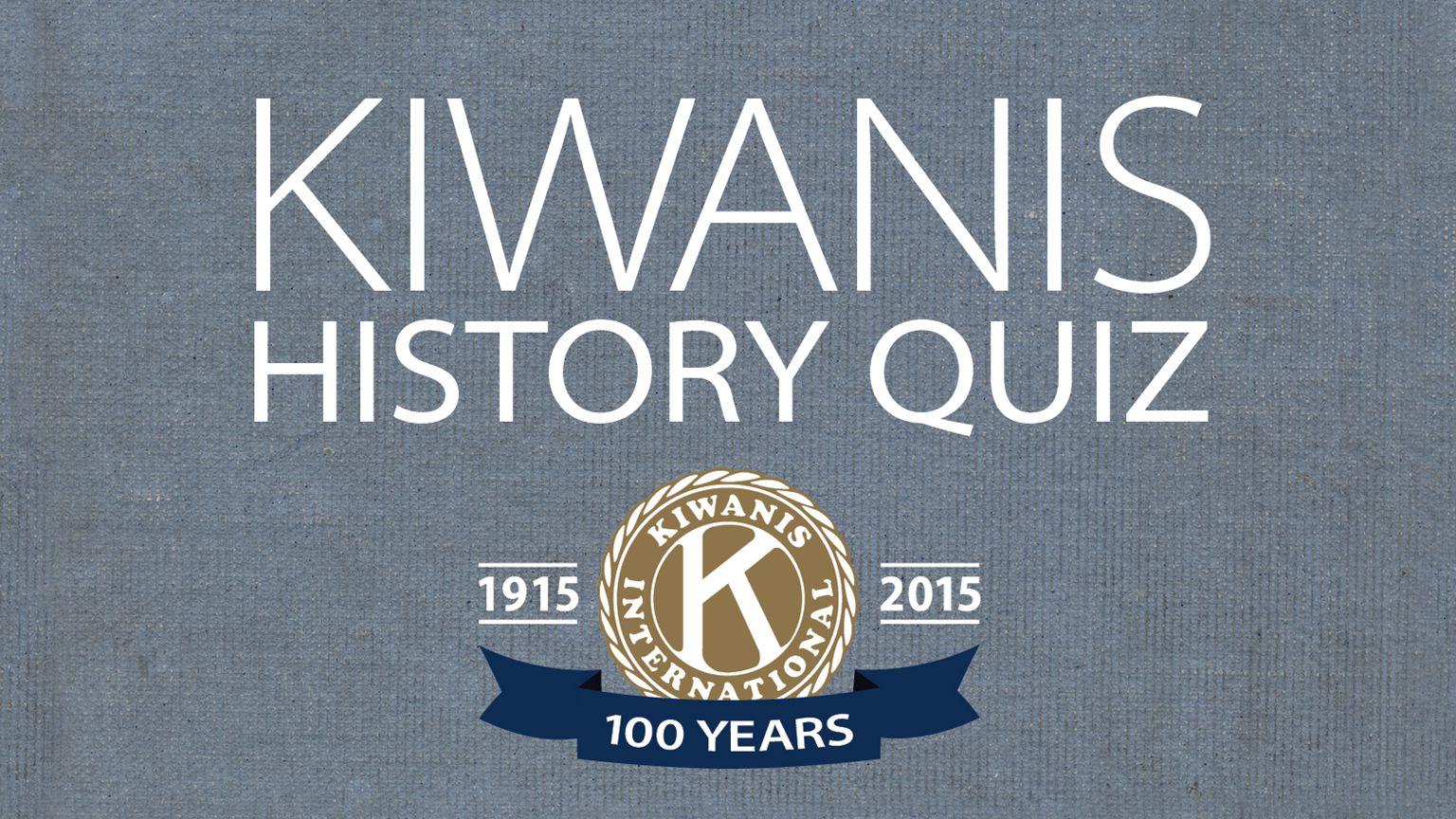 The first Kiwanis club was founded in Detroit on January 21, 1915.