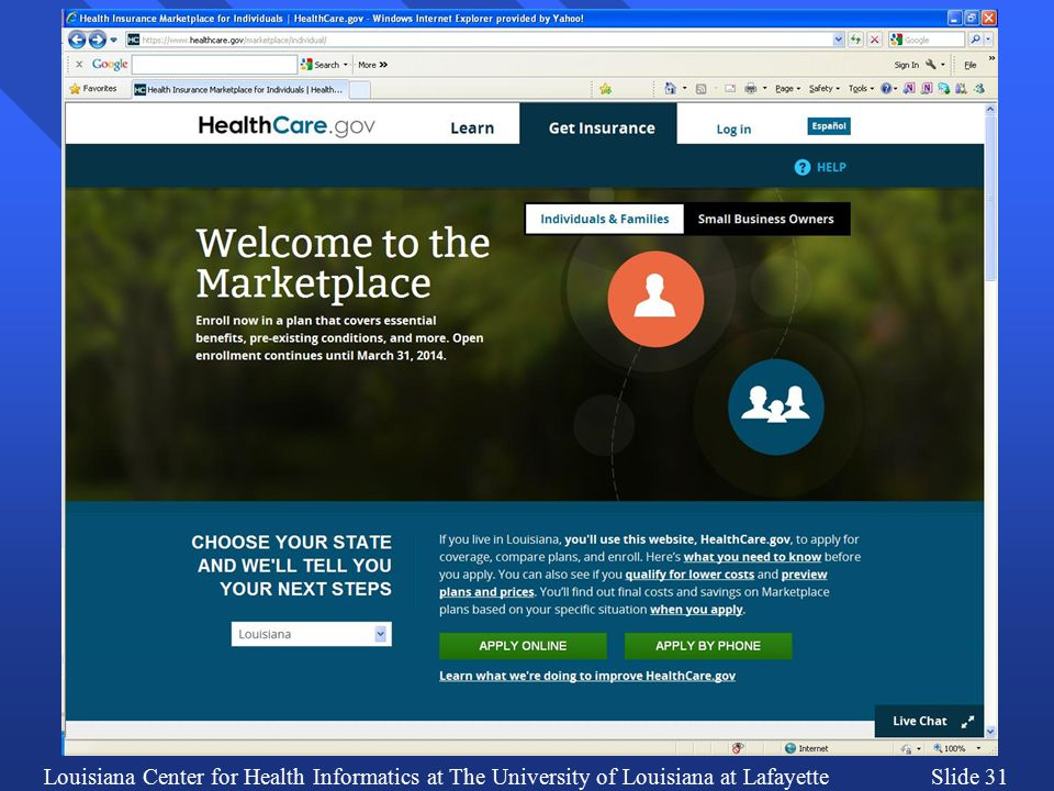 Louisiana Center for Health Informatics at The University of Louisiana at LafayetteSlide 31