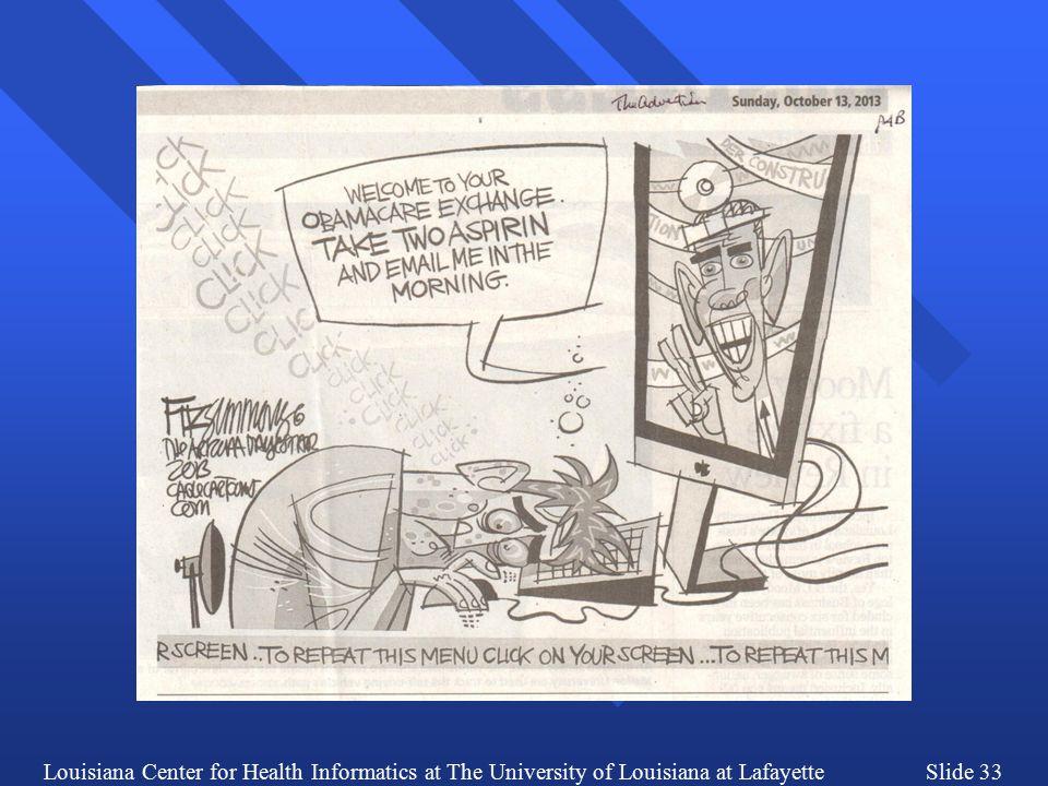 Louisiana Center for Health Informatics at The University of Louisiana at LafayetteSlide 33