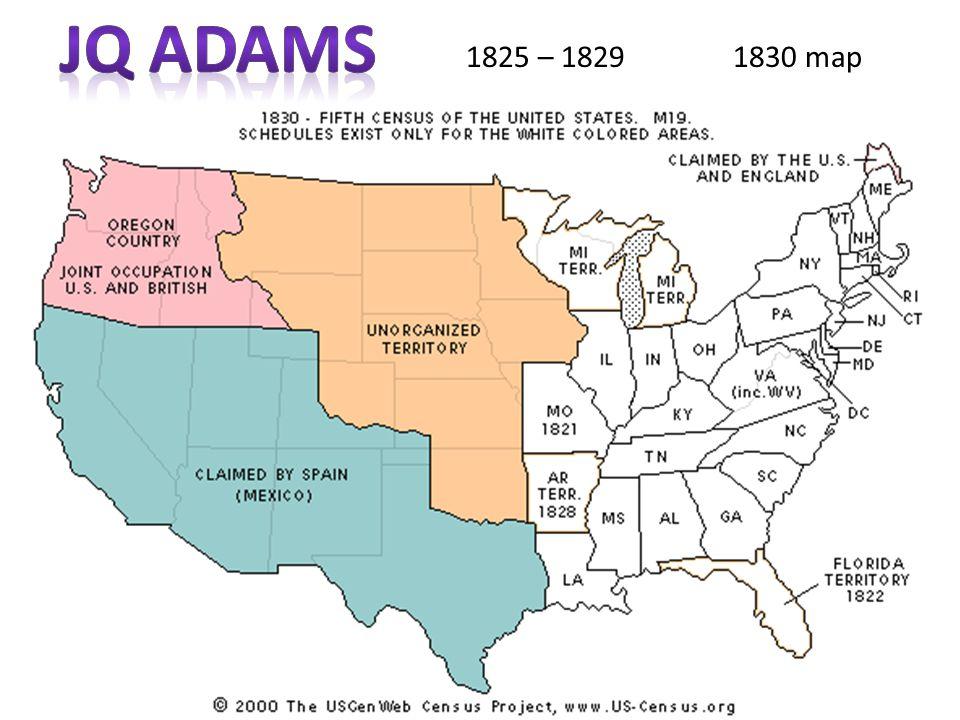1825 – 1829 1830 map