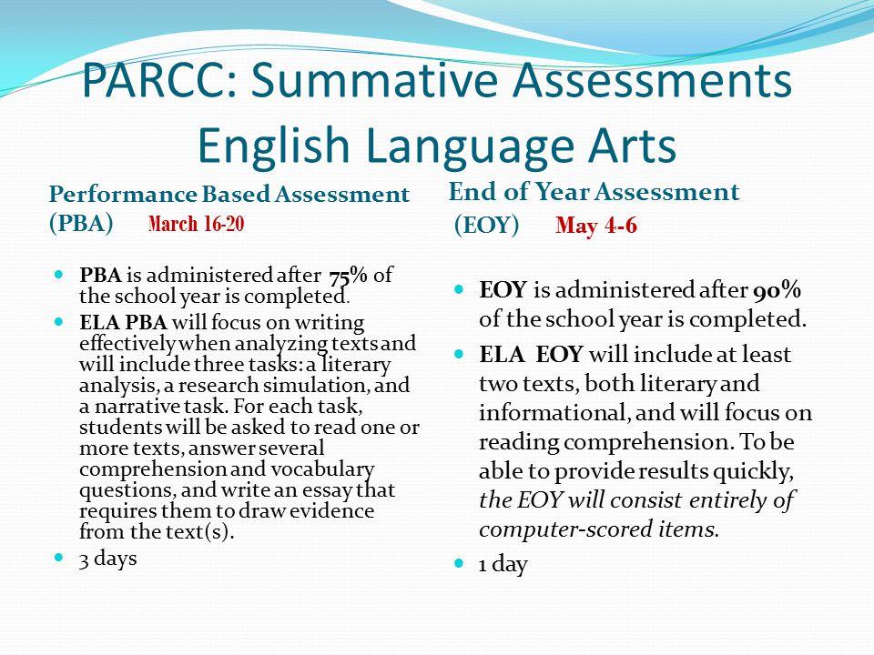 Grades 3-5 Performance Based Assessment Design 1.