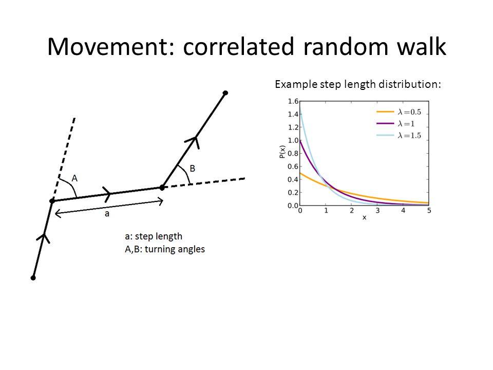 Example step length distribution: