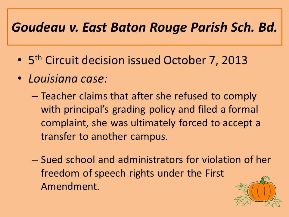 Goudeau v. East Baton Rouge Parish Sch. Bd.