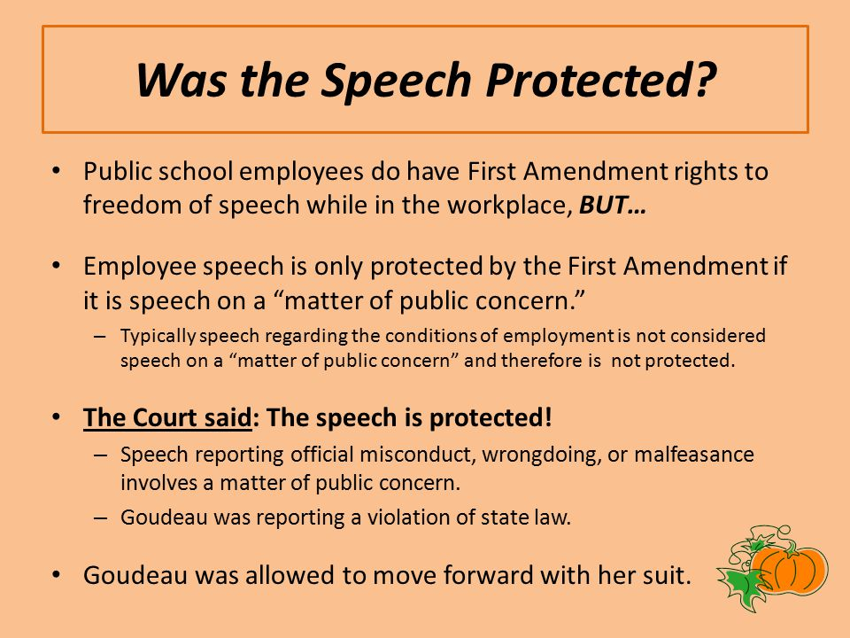 Was the Speech Protected.