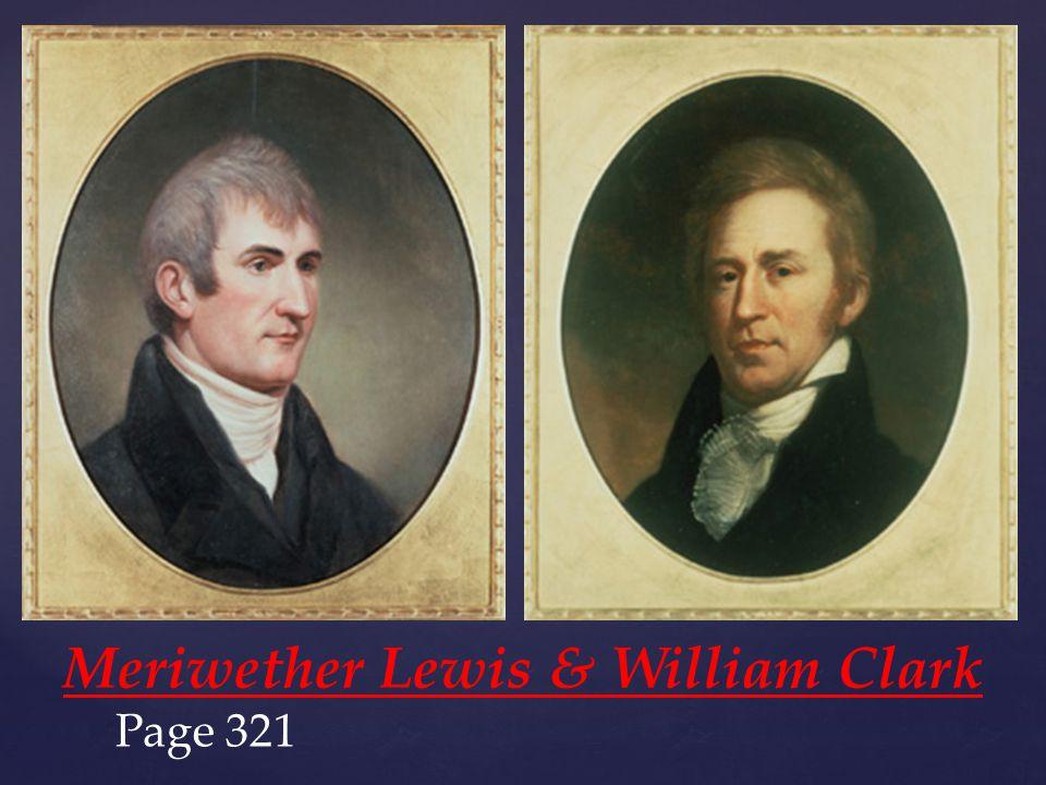 {{ Meriwether Lewis & William Clark Page 321