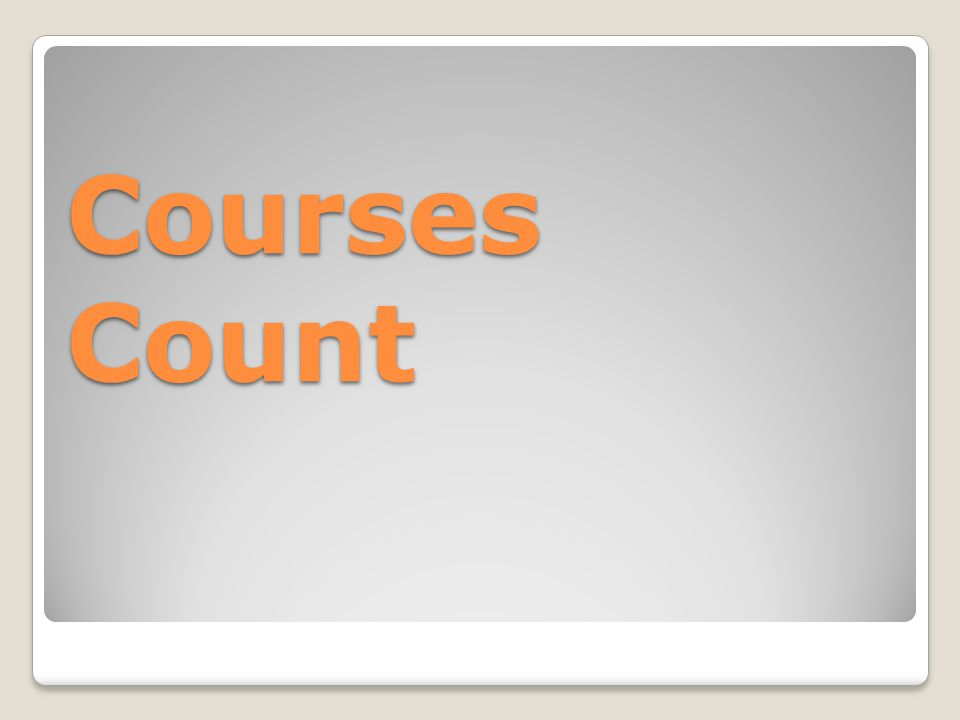 Courses Count