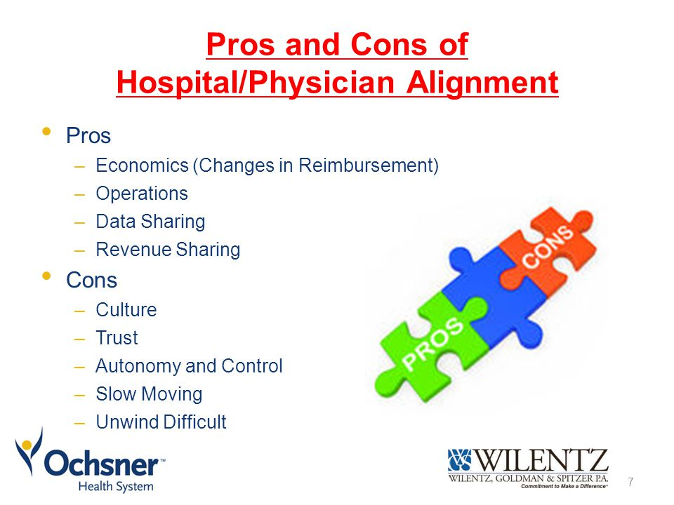 Pros and Cons of Hospital/Physician Alignment Pros –Economics (Changes in Reimbursement) –Operations –Data Sharing –Revenue Sharing Cons –Culture –Trust –Autonomy and Control –Slow Moving –Unwind Difficult 7
