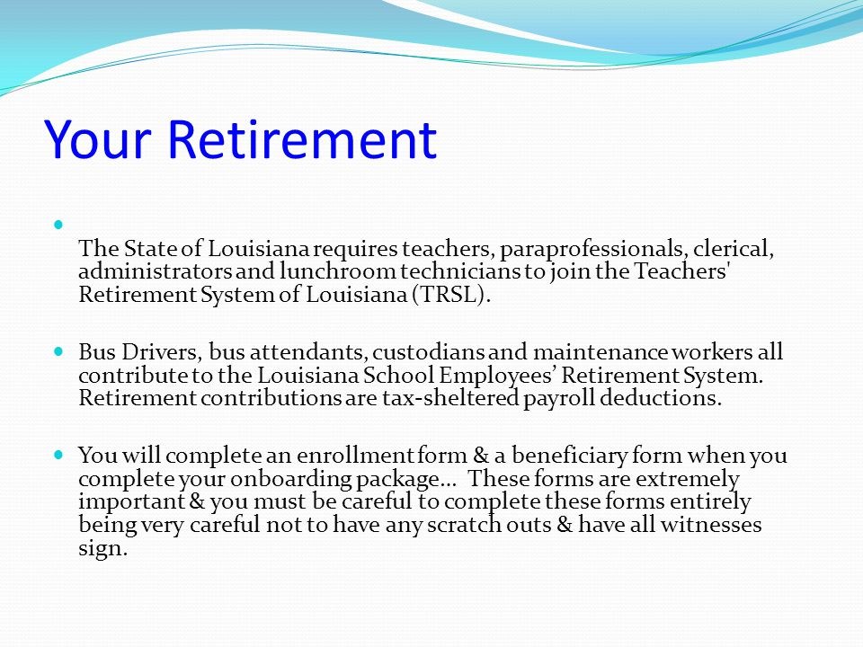 Your Contributions You cannot add extra money to your retirement.