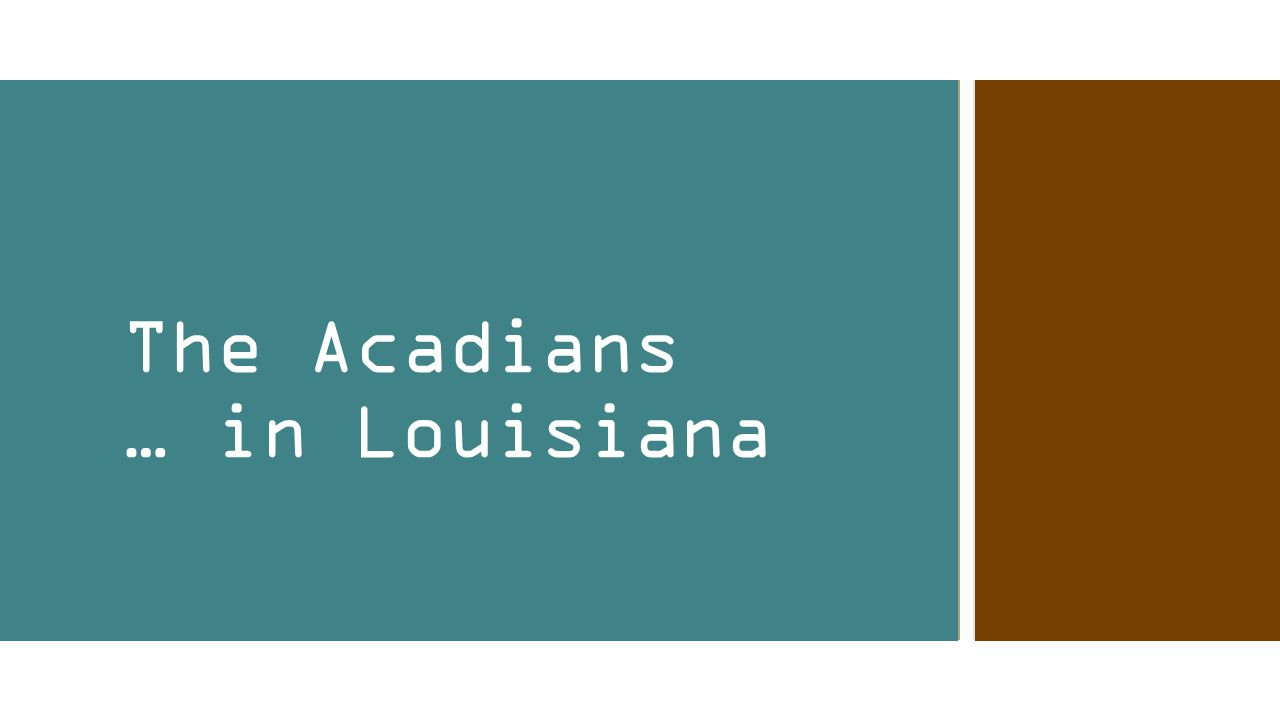 The Acadians … in Louisiana