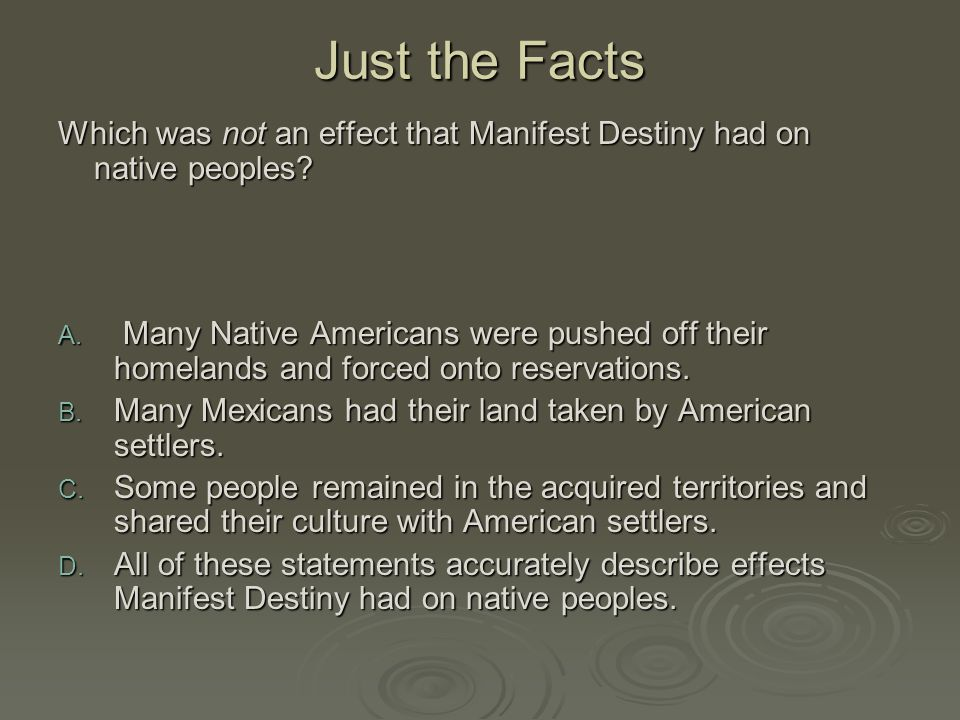 Essay On Manifest Destiny