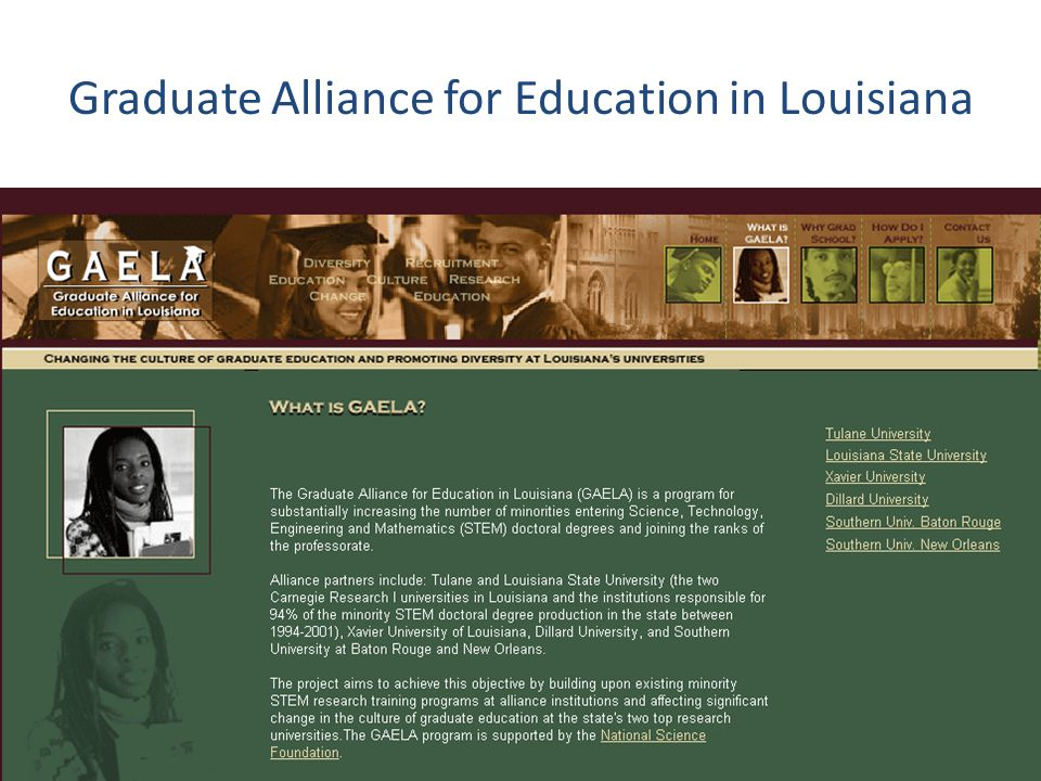 Graduate Alliance for Education in Louisiana