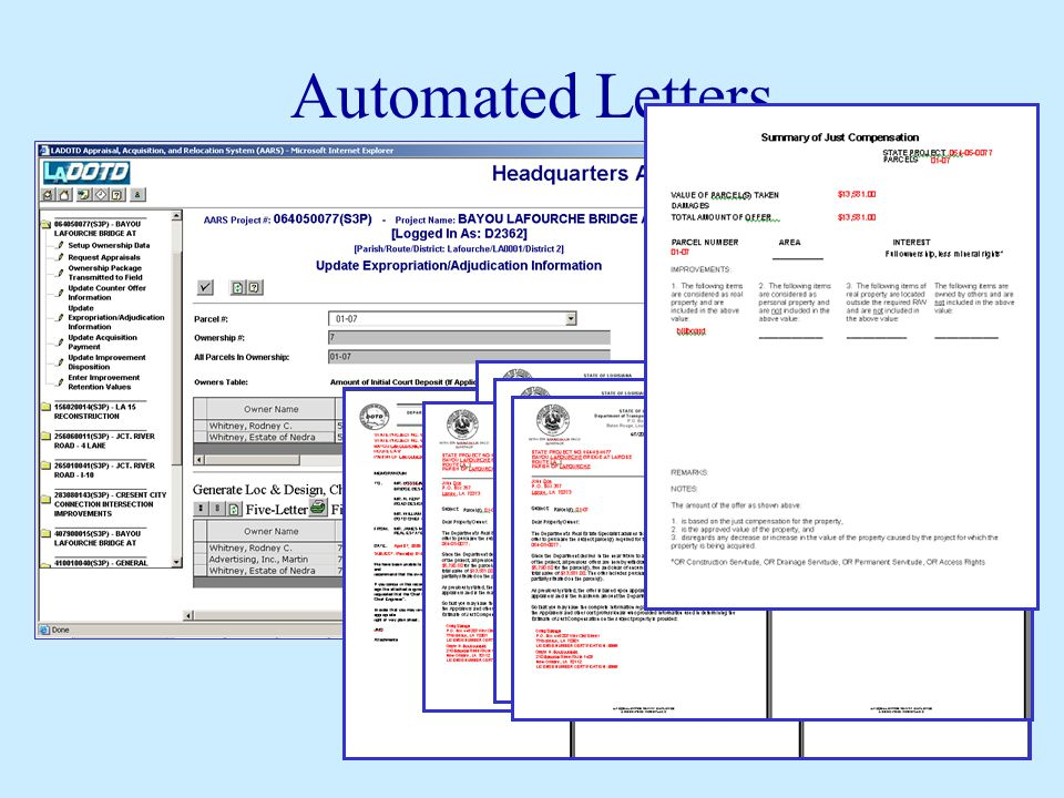 Automated Letters
