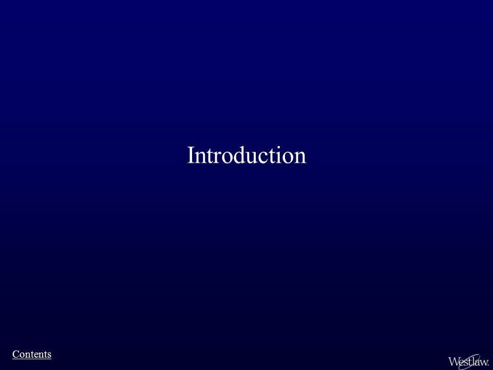 Introduction Contents